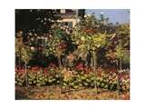 Garden at Sainte Adresse Giclee Print by Claude Monet