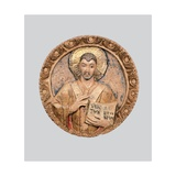Medallion with St. Ambrose Blessing Giclee Print by  Lombard workshop