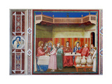 Life of Christ, The Wedding at Cana Posters by  Giotto di Bondone