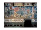 Effects of Good Government in the City Print by Ambrogio Lorenzetti