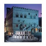 Fontana Maggiore, a medieval fountain in Perugia Print by Giovanni & Nicola Pisano