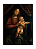 Madonna med barnet Posters af Gaudenzio Ferrari