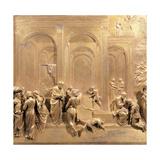 Isaac, Esau and Jacob Plakater af Lorenzo Ghiberti
