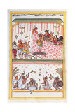 Wedding scene. Drawing of Indian subject commissioned by Niccolao Manucci 18th c. Posters