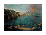 View of Naples from Posillipo Poster von Gaspar van Wittel