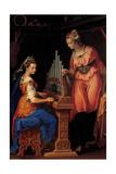 Sts. Cecilia and Catherine Prints by Bernardino Campi