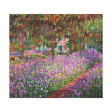 The Artist's Garden At Giverny, c.1900 Posters av Claude Monet