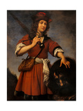 David with the Head of Goliath Giclée-tryk af Carlo Dolci