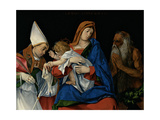 Madonna and Child with St. Flavian and St. Onophrius Giclee Print by Lotto Lorenzo