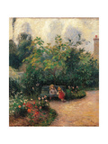 Corner of the Garden at the Hermitage Posters par Camille Pissarro