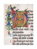 Psalter with Hymns, illuminated manuscript by   Matteo di Giovanni, 1474. Osservanza Basilica,Siena Prints by Matteo di Giovanni
