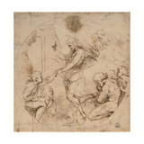 Drawing, Christ in the Limbo Affiches par  Raphael