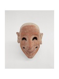 Terracotta Male Mask, 6th Century B.C. Whitaker Museum, Mozia, Sicily, Italy Print