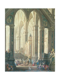 Salomon Burning Incense Before the Idols Premium Giclée-tryk af Vittorio Maria Bigari