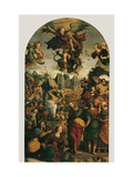 Raising of Lazarus and Fight between St. Michael and the Devil Giclee Print by Pompeo Morganti
