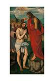 Kristi dåb Poster af Pseudo Boccaccino