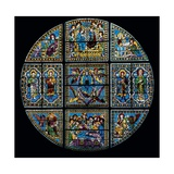 Stained Glass Window Giclee Print by Duccio Di buoninsegna