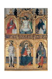 Polyptych by unknown artist, 16th c. Madonna and Child and Saints. San Michele Church, Como, Italy Poster