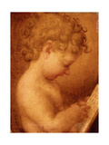 Little Putto Praying or Young Boy Reading, copy from Correggio, 16th c. Capodimonte Museum Prints by  Correggio