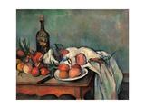 Tablero de dibujo con pipa, cebollas y lacre Póster por Paul Cézanne