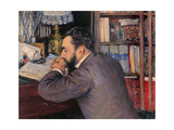 Portrait of Henri Cordier Prints by Gustave Caillebotte