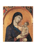 Madonna and Child with Six Angels Prints by Duccio Di buoninsegna