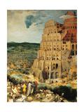 Tower of Babel Giclee Print by  Bruegel the Elder