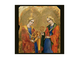 St. Catherine and St. Mary Magdalene Prints by Jacobello del Fiore