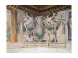 Putti Holding Festoons Giclee Print by Girolamo Siciolante