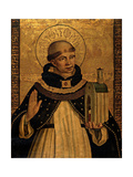 St. Thomas Aquinas Presenting the Model of a Church Plakater af Pedro Berruguete