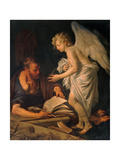 St. Matthew and the Angel Prints by Manaigo Silvestro