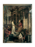 Christ before Pilate, by Tintoretto, 1566-67. Scuola Grande di San Rocco, Venice, Italy Giclee Print by Tintoretto