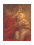 Madonna and Child Prints by Gaetano Previati