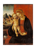 Madonna and Child with Landscape Background Posters