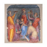 Sacred Conversation with the Madonna and Child with Saints Poster by Pontormo Carrucci