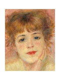 Portrait of the Actress Jeanne Samary Prints by Pierre-Auguste Renoir