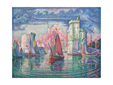 Port of La Rochelle Affischer av Paul Signac