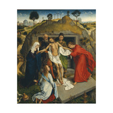 Entombment of Christ - Lamentation over the Dead Christ, by Rogier Van der Weyden. Florence, Italy Giclée-Druck von Rogier van der Weyden