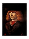 Portrait of a Young Man Prints by Giovanni Ambrogio De Predis