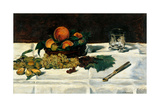 Still Life Fruit on a Table Posters by Édouard Manet