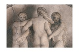 Frescoes in the Camera della Badessa Prints by  Correggio