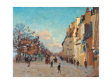 Paris, Quai de Bercy, Snow Effect Prints by Jean-Baptiste-Armand Guillaumin