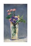 Carnations and Clematis in a Crystal Vase Plakater af Édouard Manet