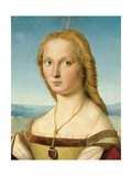 Portrait of a Young Woman (Lady with a Unicorn) Posters par  Raphael