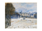 Snow at Marly le Roi Posters by Alfred Sisley