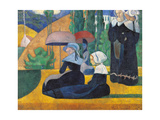 Brittany Women with Umbrellas Prints by Emile Bernard