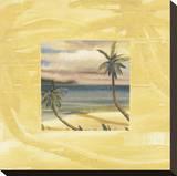 Souvenirs des îles II Reproduction sur toile tendue par Jeff Surret