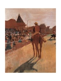 Racehorses in Front of the Tribunes Posters by Edgar Degas
