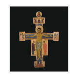 Crucifix Print by  Bigallo Master