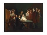 Family of Luis de Borbon Posing Reproduction procédé giclée par Francisco Goya